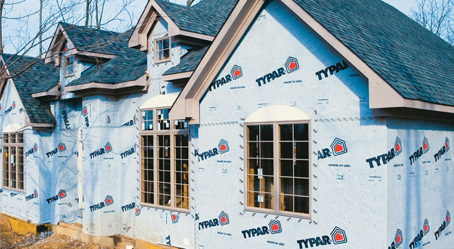 typar housewrap powerhouse building solutions. Black Bedroom Furniture Sets. Home Design Ideas